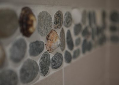 Beautiful Pebble and Shell Tiling