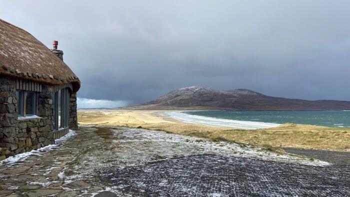 hygge on harris winter landscape